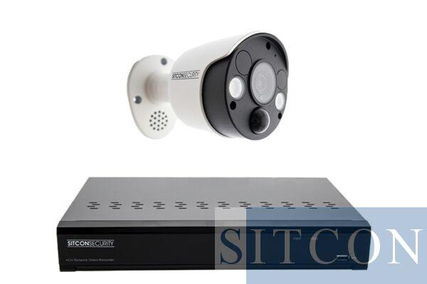 Schriklamp bewakingscamera set SMART 1