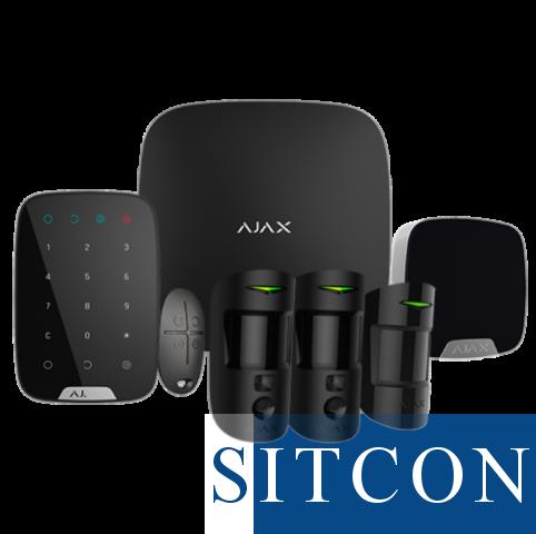 Ajax Draadloos alarmsysteem Deluxe met PIR cams Zwart SMART