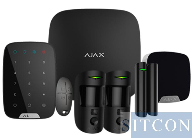 Ajax Draadloos alarmsysteem Compleet PIR cams Zwart SMART