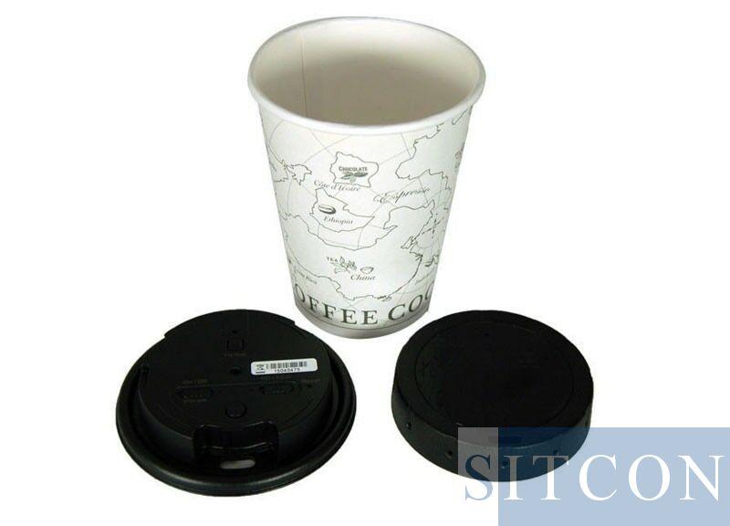 Koffie deksel mini camera